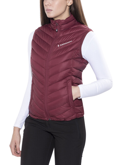 Peak Performance Frost Down - Chaleco Mujer - rojo